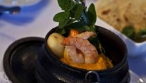 Chicken and prawn potjie at Allee Blue Restaurant